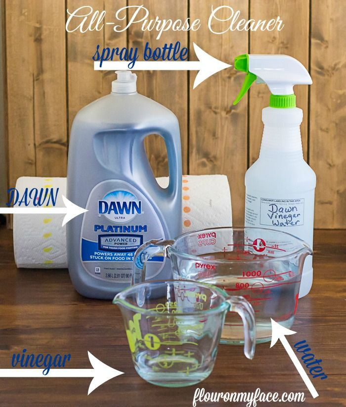 ALl-Purpose Cleaner INgredients via flouronmyface.com
