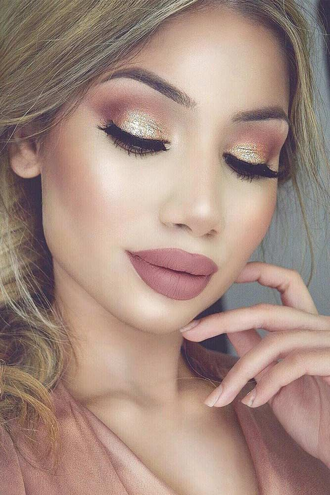 9f66df5ef 39 Top Rose Gold Makeup Ideas To Look Like A Goddess | EYES | Gold ...