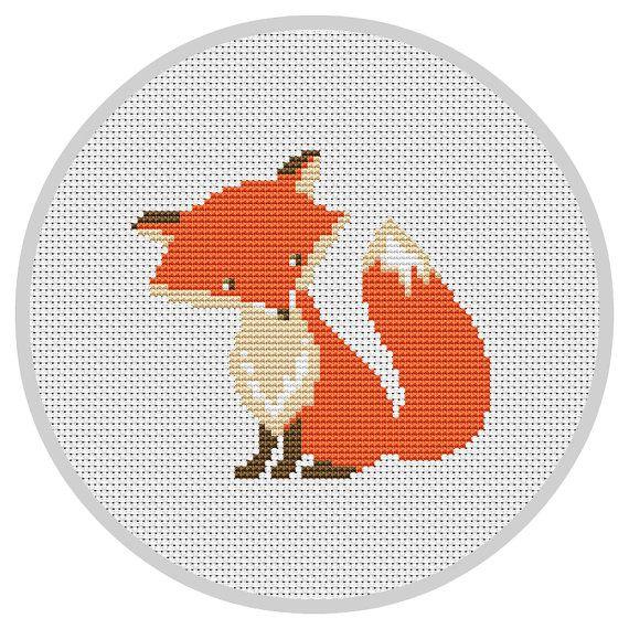 Fox Nursery Cross Stitch Pattern Forest Woodland animals nursery PDF ...
