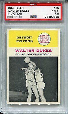 1961 Fleer #50 Walter Dukes PSA 7.5 NM Detroit Pistons