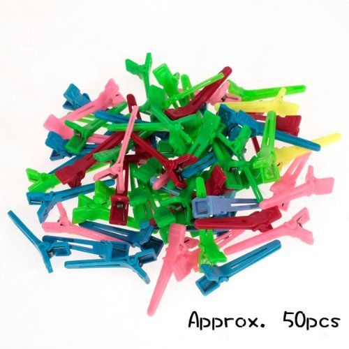 50Pcs Mini Hairdressing Salon Hair Clips Hair Salon Sectioning Clips by Generic. $8.99. High tension spring holds hair in place securely without pulling on or damaging hair. Comes in a large quantity, secure you a extra convenience. Contours and curves to the shape of the head for client comfort and superior clean sectioning. Stain resistant - Will not absorb hair color and rinses easily with warm water after use. For sectioning off small areas of hair when rolling perm rods o...