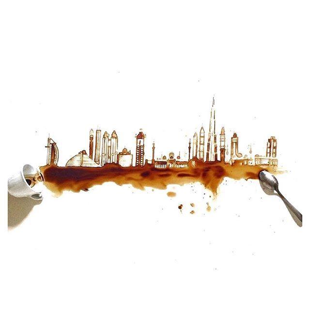 Coffee stain art. So much creativity!☕️