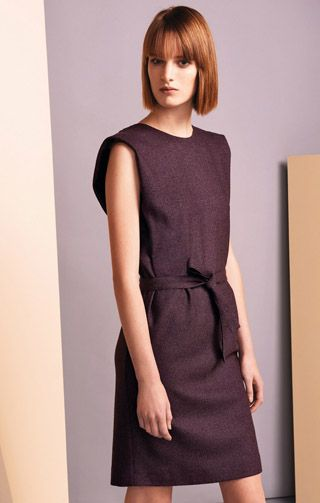 Mix wool dress, with tweed effect See By Chloé