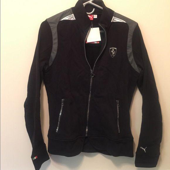 itm jackets sf black lightweight loading jacket red s ferrari motorsport is mens puma image r