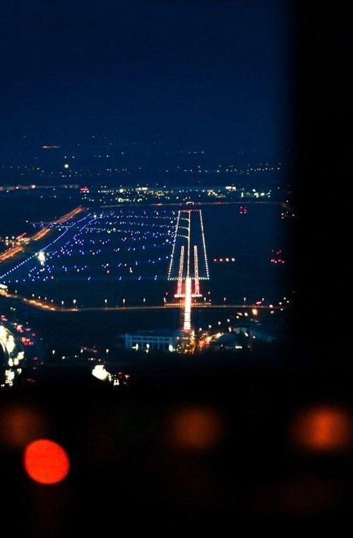 Night Flight Landing Aviation Night Flight General Aviation