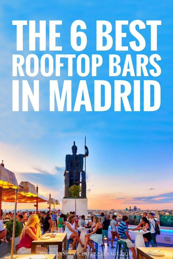 best rooftop bars in Madrid The 6 best rooftop bars in Madrid. Pool, bar, restaurant, there are so many perfect rooftop bars Madrid. THe me hotel rooftop bar is very famous, but there are others like the Dear hotel or Gau & Café you really should visit when you travel to Madrid. Click for more information.The 6 best rooftop bars in Madrid. Pool, bar, restaurant,...