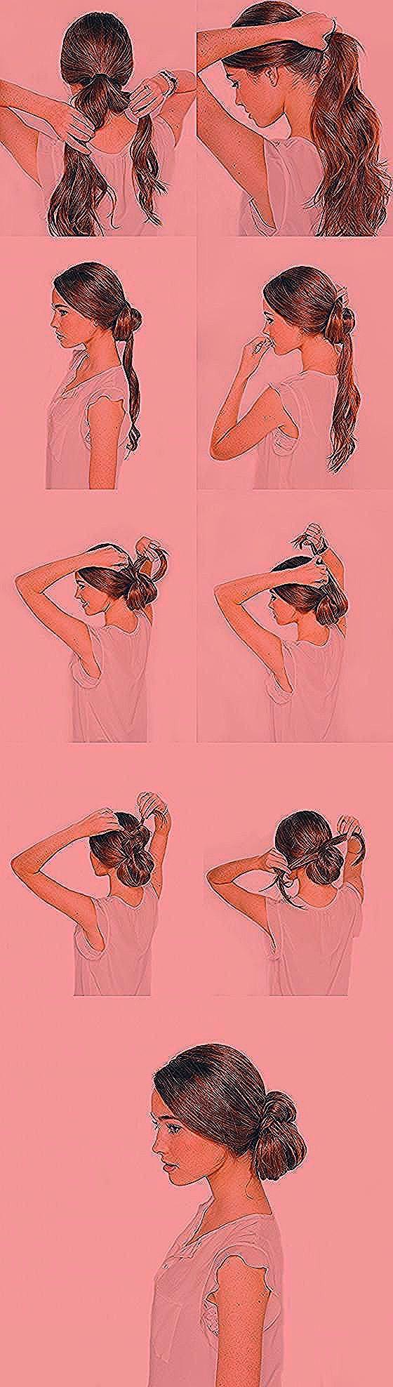 18 erstaunliche Ideen fr elegante Frisuren #hair #hairstyles #dutt #zopf #kurzha…