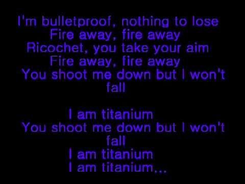 Sia And David Guetta Titanium With Images Titanium Lyrics