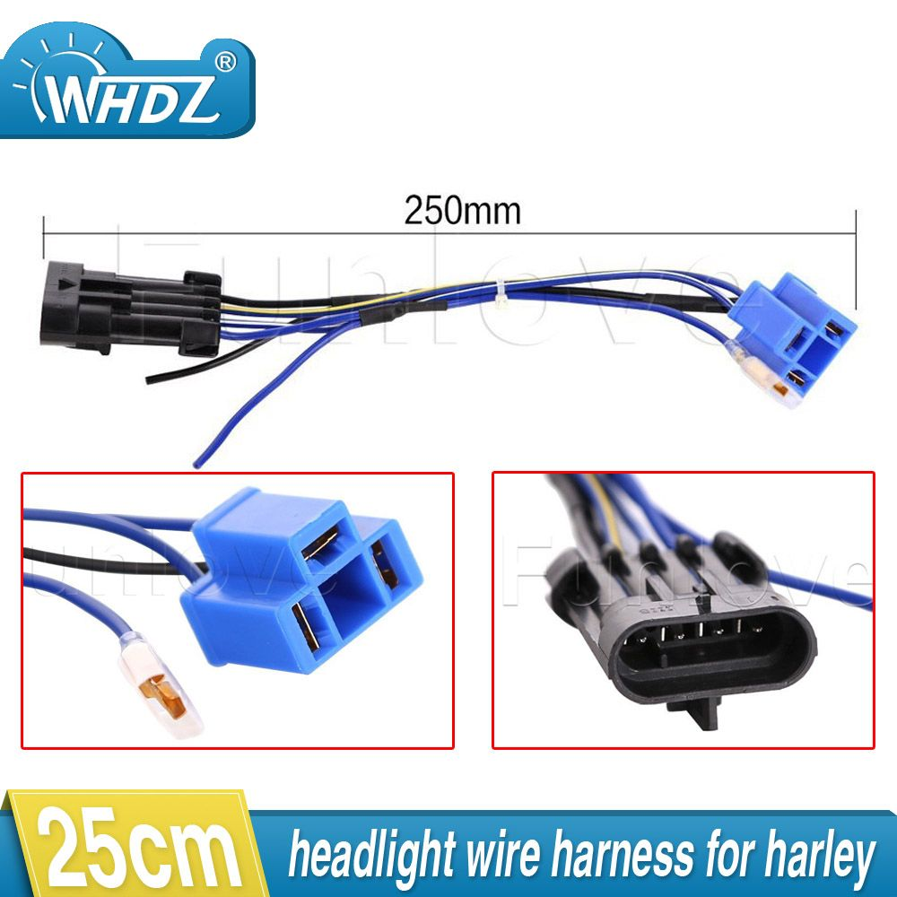2017 led headlight wiring harness adapter for harley touring and trike 2014  2015 2016 7