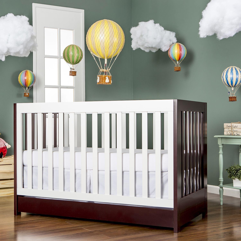 Dream On Me Milano Brown/White 5-in-1 Convertible Crib