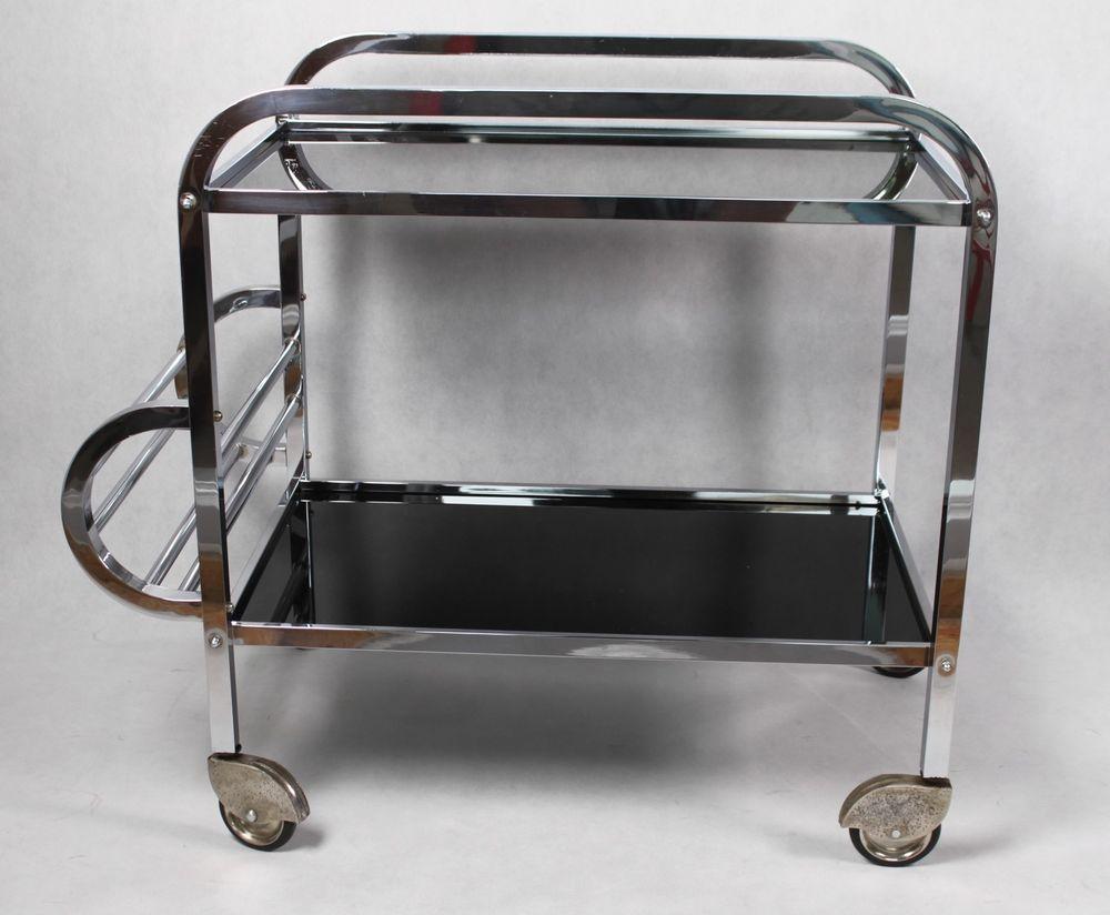 Art Deco Barwagen Servierwagen Teewagen Rollwagen Top Teewagen Barwagen Servierwagen