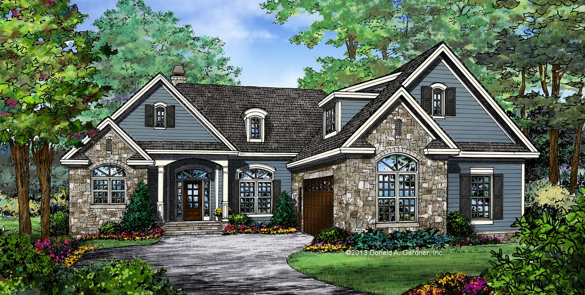Plan of the Week! Under 2500 sq ft - The Adrian, plan 1334. An especially open layout and volume ceilings enhance the living space of this small Craftsman design. http://www.dongardner.com/house-plan/1334/the-adrian. #POTW #Small #Craftsman