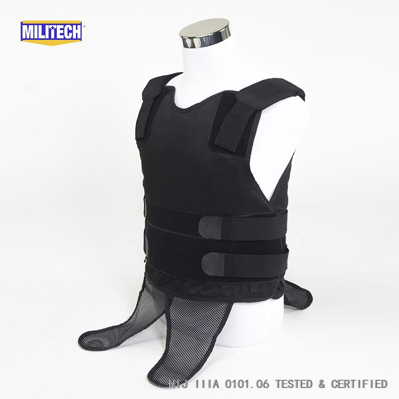 Armor Corr Concealable Stabiiia Vest New Kevlar Bullet >> Militech Black Nij Iiia 3a And Level 2 Stab Concealable Aramid