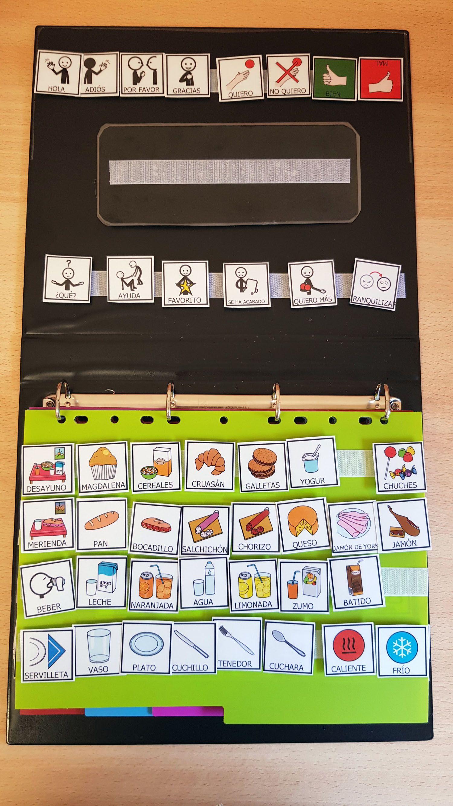 Construir un cuaderno de comunicación tipo PECS con pictogramas - ARASAAC