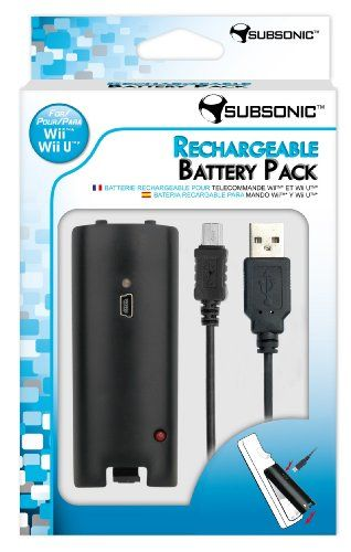 Rechargeable Battery Pack - Black (Nintendo Wii U): Amazon.co.uk: PC & Video Games