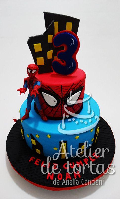 Torta Spiderman Torta De Spiderman Tortas Del Hombre