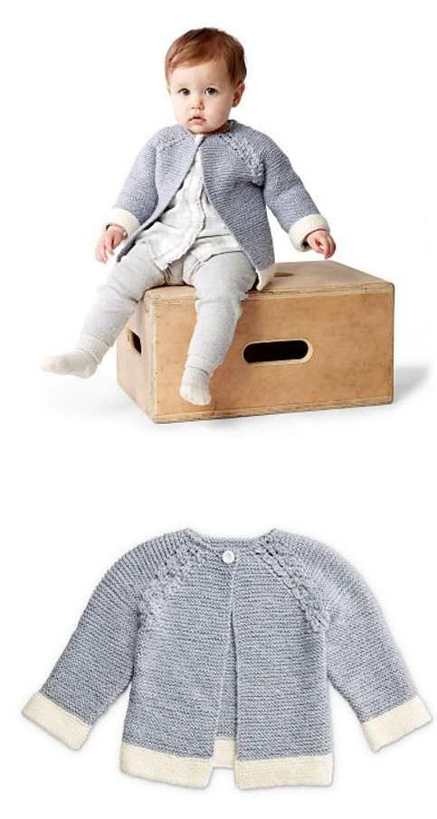Free Knitting Pattern for Baby Cardigans | Babies & Kids | Pinterest ...