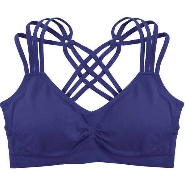 6a89bc9d92 Humble Chic NY Criss Cross Sports Bra ( 24) ❤ liked on Polyvore featuring  activewear