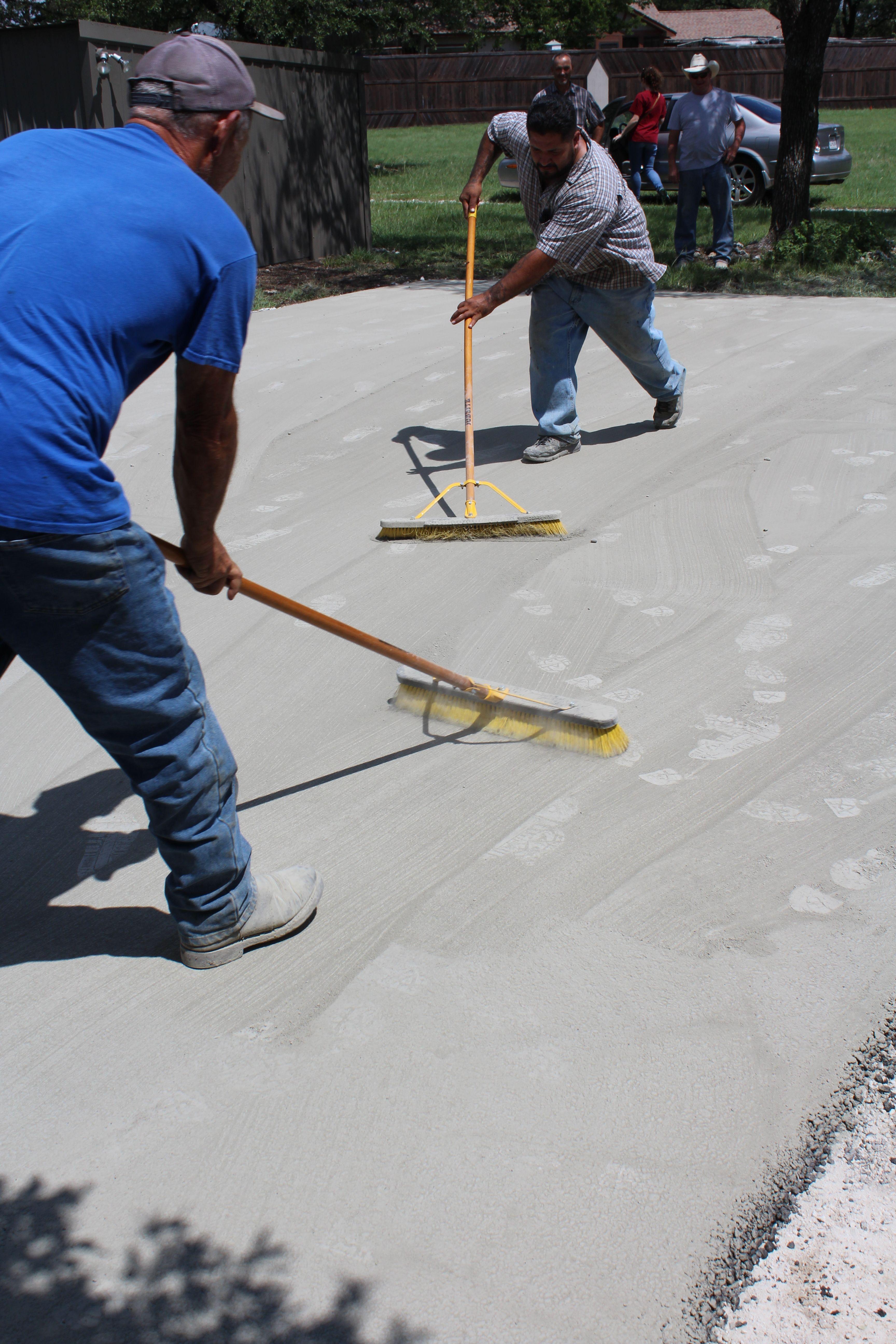 Dusting Asphalt To Give A Concrete Look To This Carport Leander Asphalt Carport