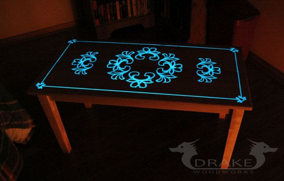 glow table glow in the dark table custom epoxy resin coffee projects to try glow table. Black Bedroom Furniture Sets. Home Design Ideas