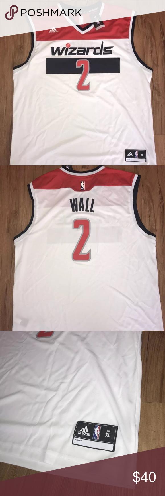 nwt adidas john wall wizards nba jersey mens sz xl new on john wall id=19699