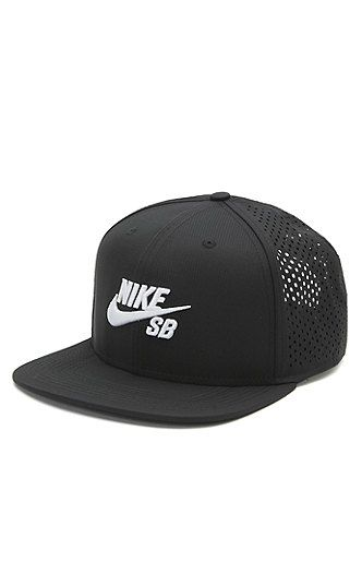 PacSun presents the Nike SB Performance Trucker Hat. This unique cap comes  with a raised Nike SB logo sewn on front of a solid color base. 2054d6112fa0