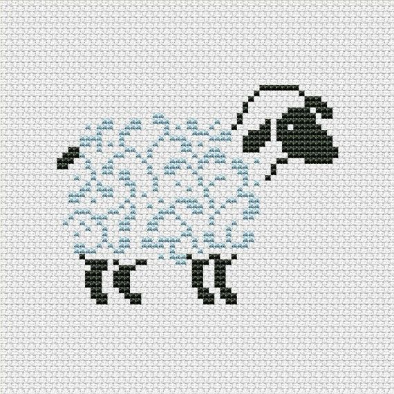 Cross stitch pattern PDF Sheep silhouette by UAHomeMadeStudio ...