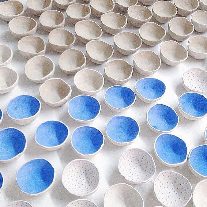 @btwceramics will be dropping off more pinch bowls this afternoon! Come and grabs yours at the #YApopup on 2 Rivington St.