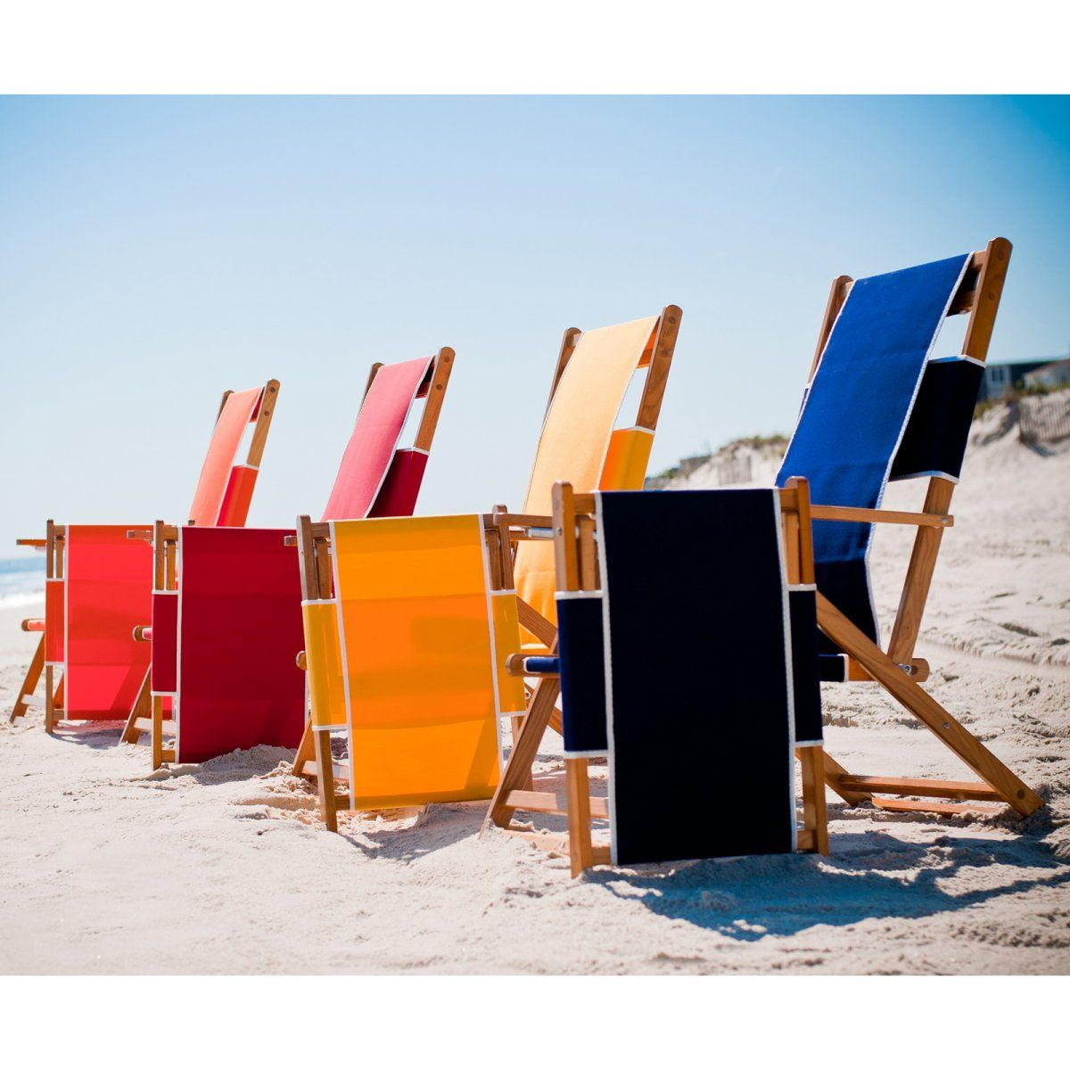 Frankford Umbrellas Commercial Grade Wooden Beach Lounger With Footrest Chairs At Hayneedle
