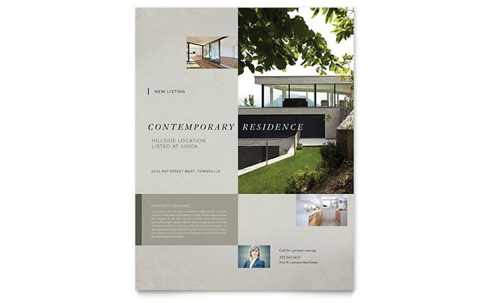 Craftsman Home Flyer Design Template By Stocklayouts  Work