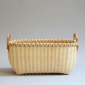 Natural Ash Basket Oak Rim and Handle : Alice Ogden
