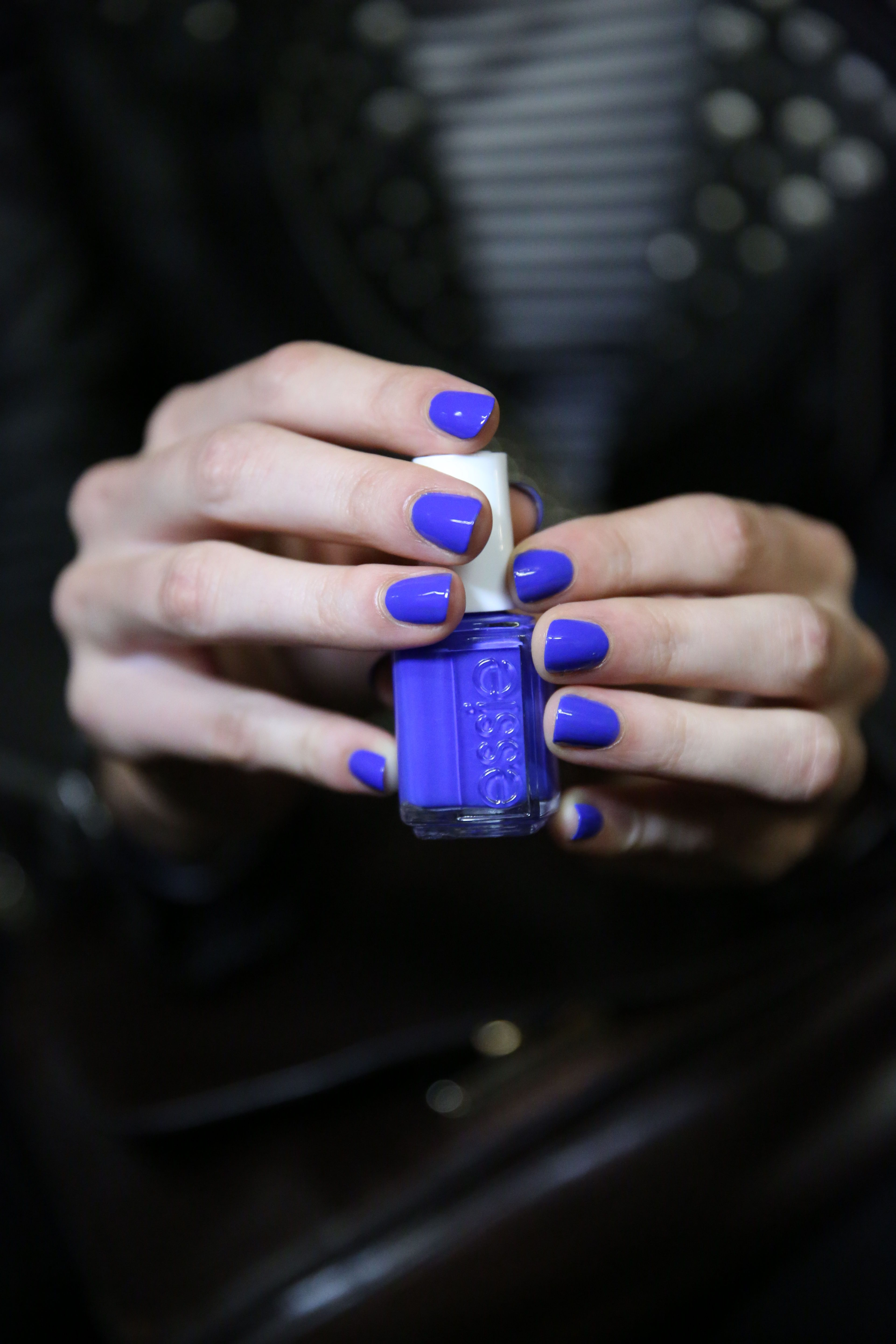 the vibrant blue nails at reed krakoff spring 2015 nailed it