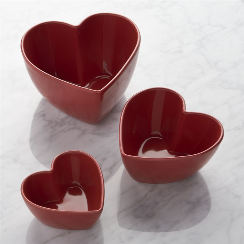 Shop Set of 3 Heart Bowls. Serve something special to the ...