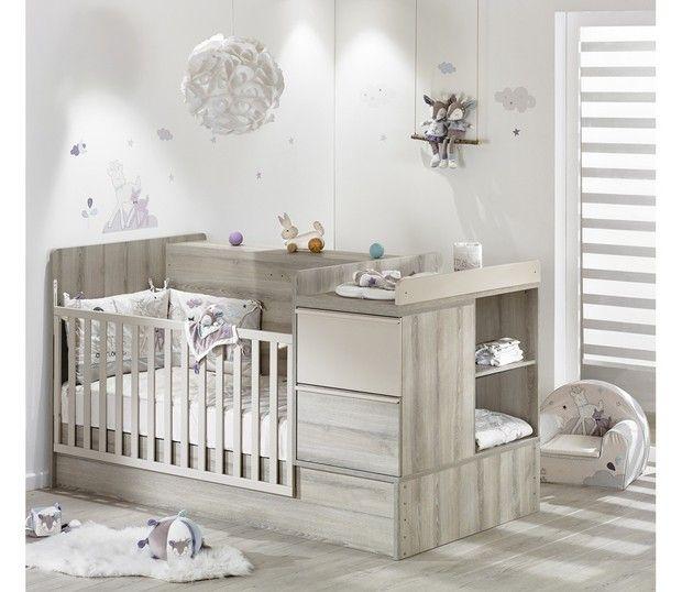 lit chambre transformable sauthon xxl taupe natal market - Lit Sauthon