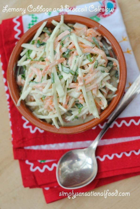 simply.food: Lemony Cabbage and Brocolli coleslaw ~ Secret recipe club 18th Aug 2014