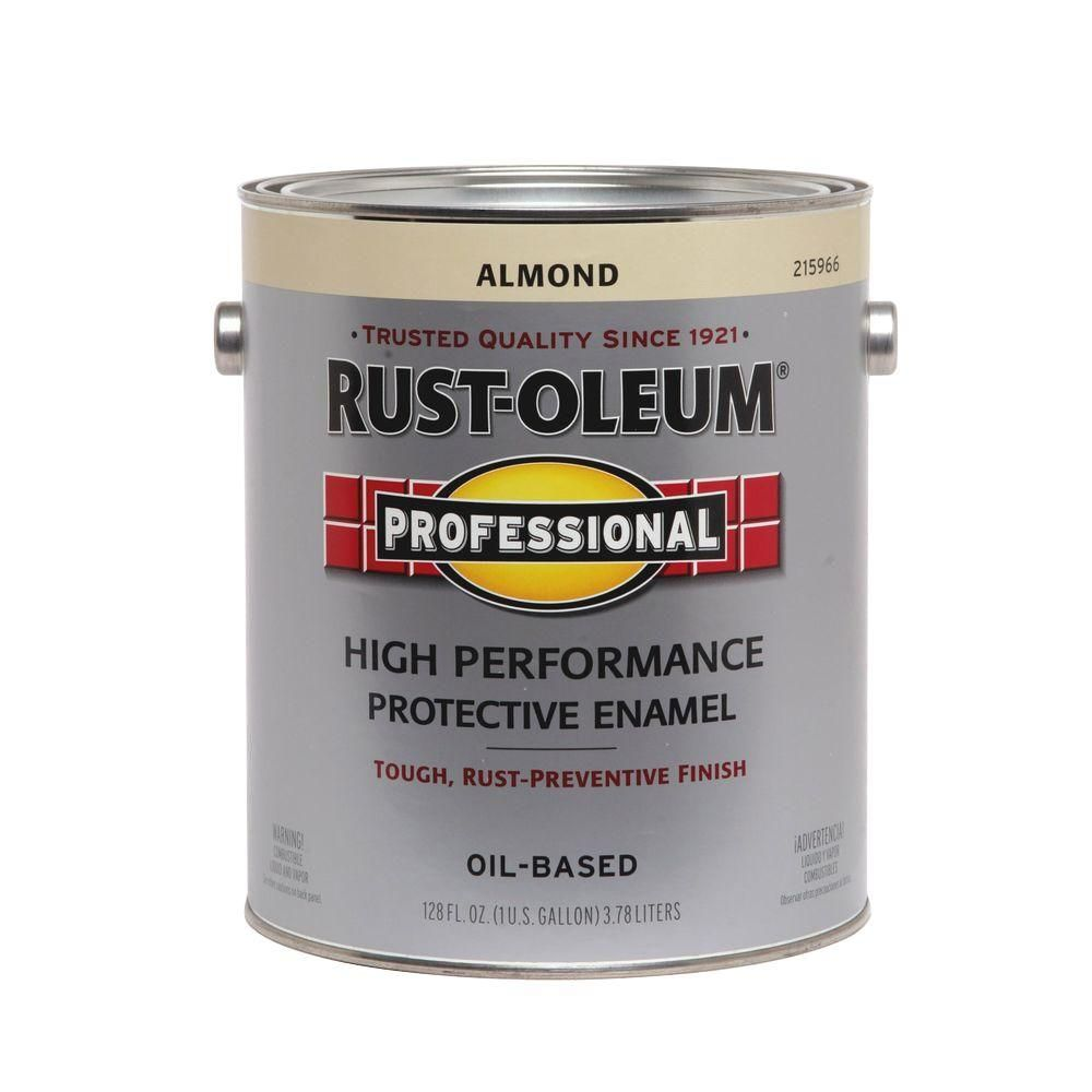 Rust Oleum Professional 1 Gal High Performance Protective Enamel Gloss Almond Oil Based Interior Exterior Paint 2 Pack 215966 Rust Campaign Dresser Enamel