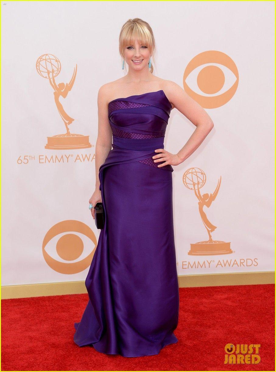 Melissa Rauch - wearing a Rubin Singer dress, Stuart Weitzman shoes ...