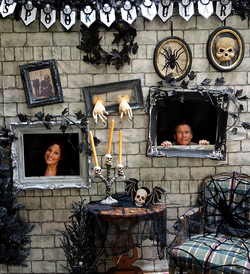 Our Halloween spooky Photo Wall in our warehouse! Come take your ...