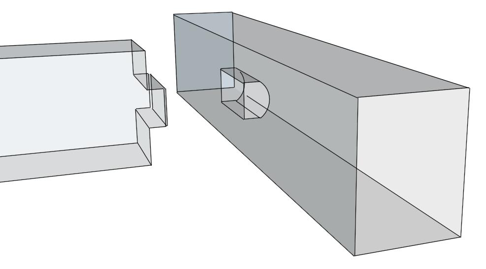 hier sieht man eine balkenlage mit einer einfachen zapfenverbindung das zapfenloch hat eine. Black Bedroom Furniture Sets. Home Design Ideas