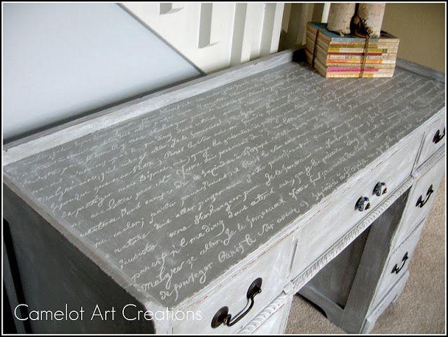 Antique Desk Refinished In French Script Antique Desk Furniture