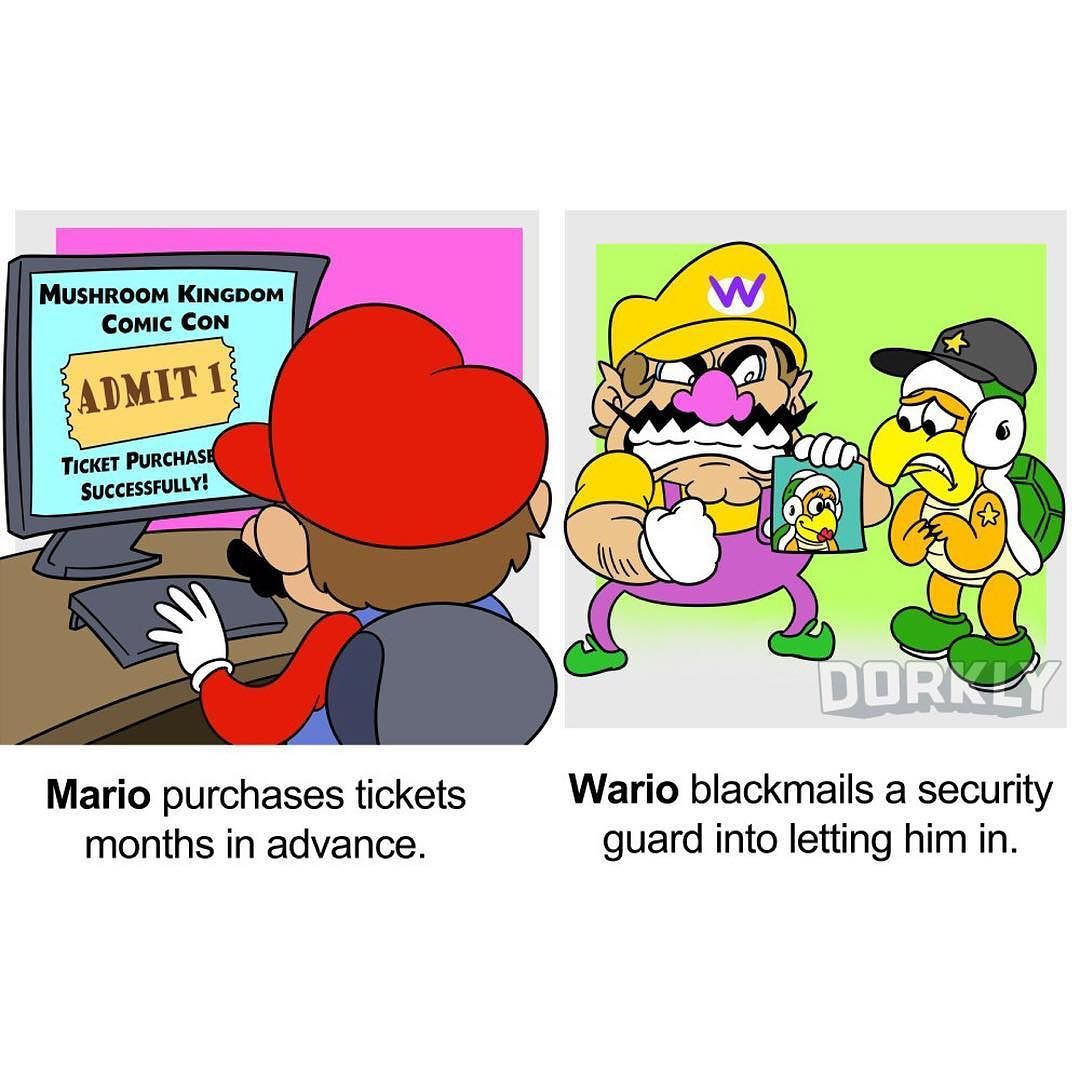 How #Mario And #Wario Go To Cons