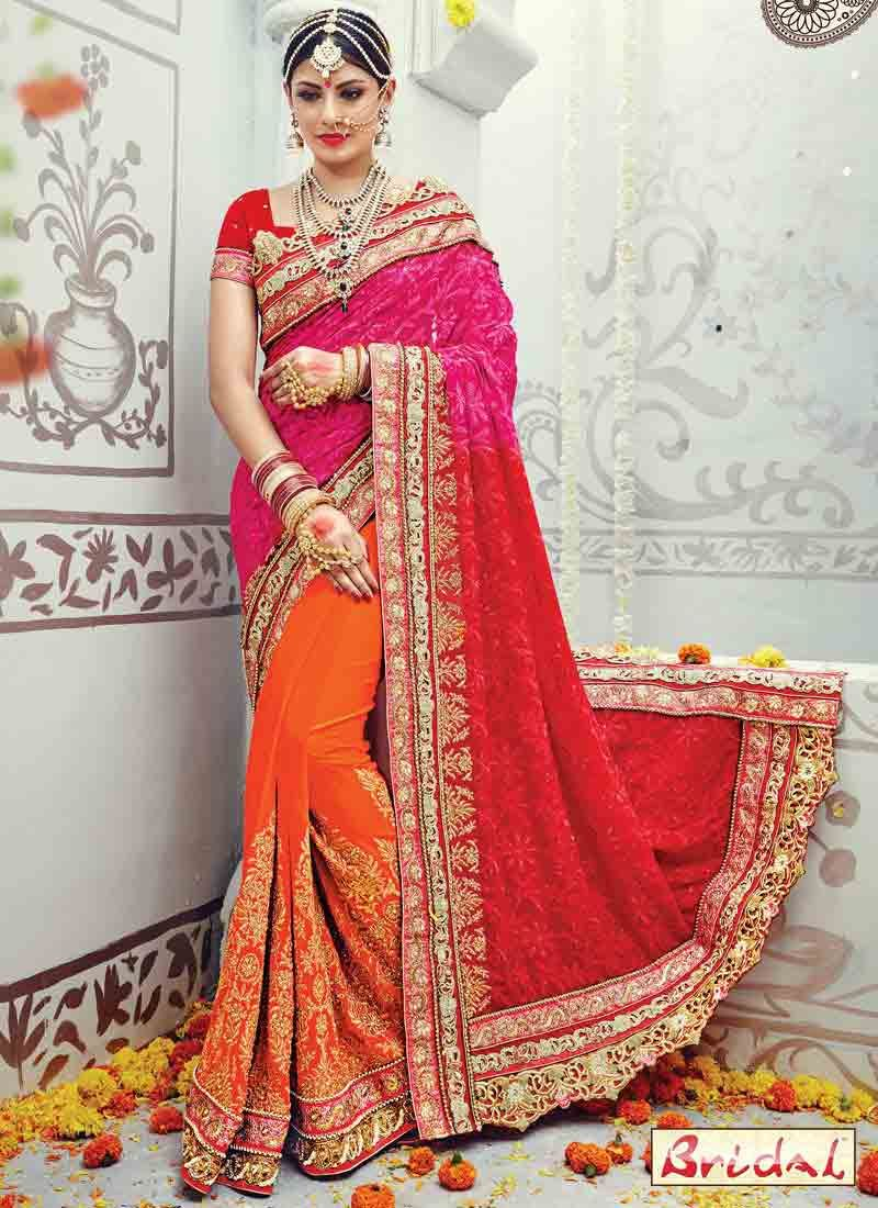 15353a12ba Best Indian Bridal Saree Designs For Weddings In 2019. Buy online shopping  sarees ...