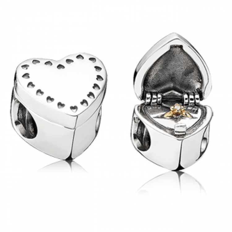 Gift from the Heart Charm Outside and Inside