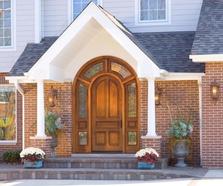 Delicieux Walnut Wood Radius Top Door (Custom All Panel #435) With Surrounding  Decorative