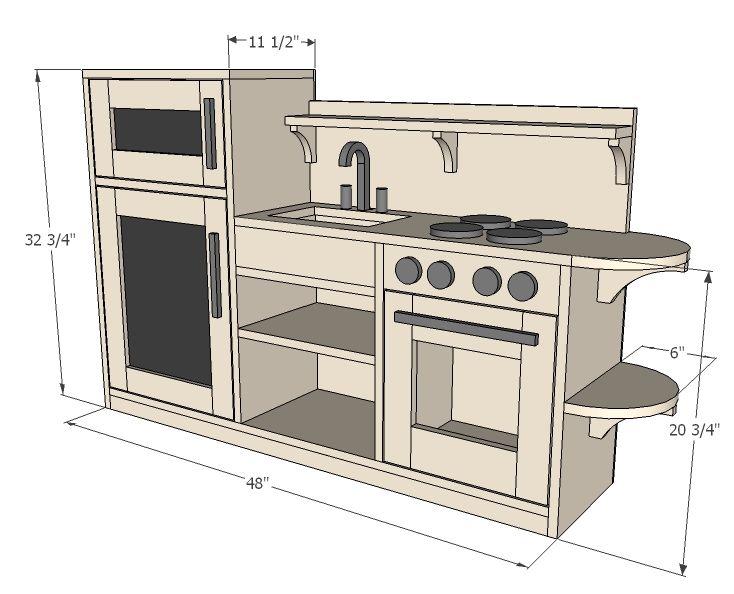 Ana blanc construire un jeu de cuisine one piece for Construire meuble cuisine