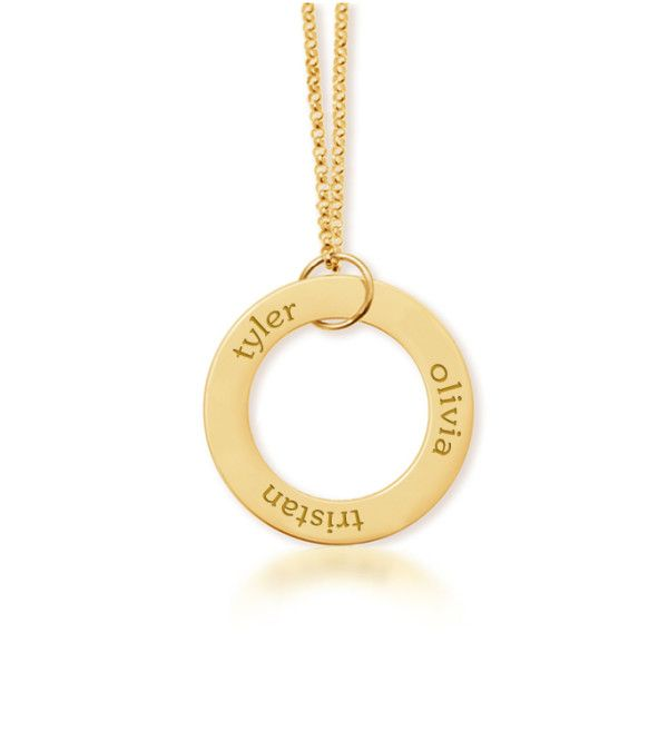 circle name necklace wish list pinterest mommy necklace gold