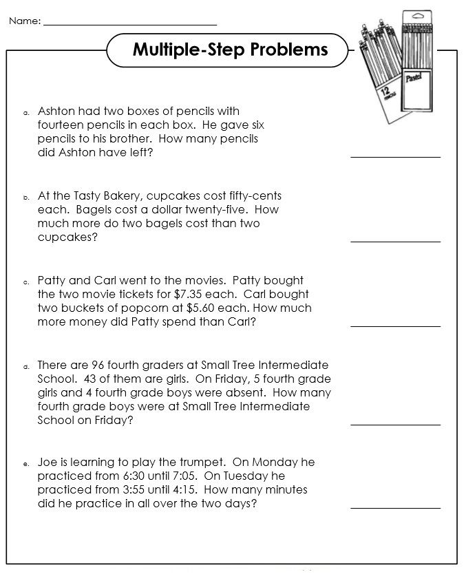 3rd Grade Math Word Problems Worksheets