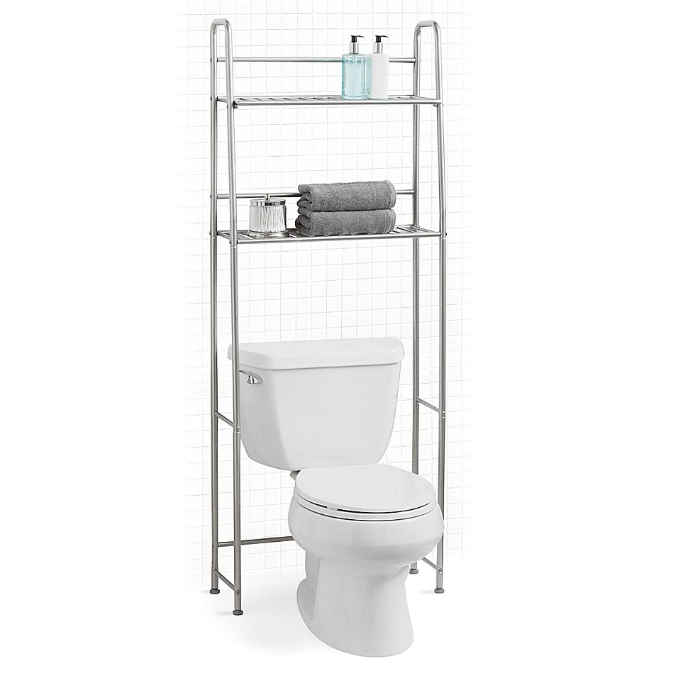 Salt Over The Toilet Space Saver In Silver In 2020 Small