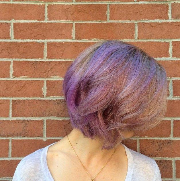 staubigen rosa und lavendel balayage pastell lila haare f r kurze haare knallige haarfarben. Black Bedroom Furniture Sets. Home Design Ideas