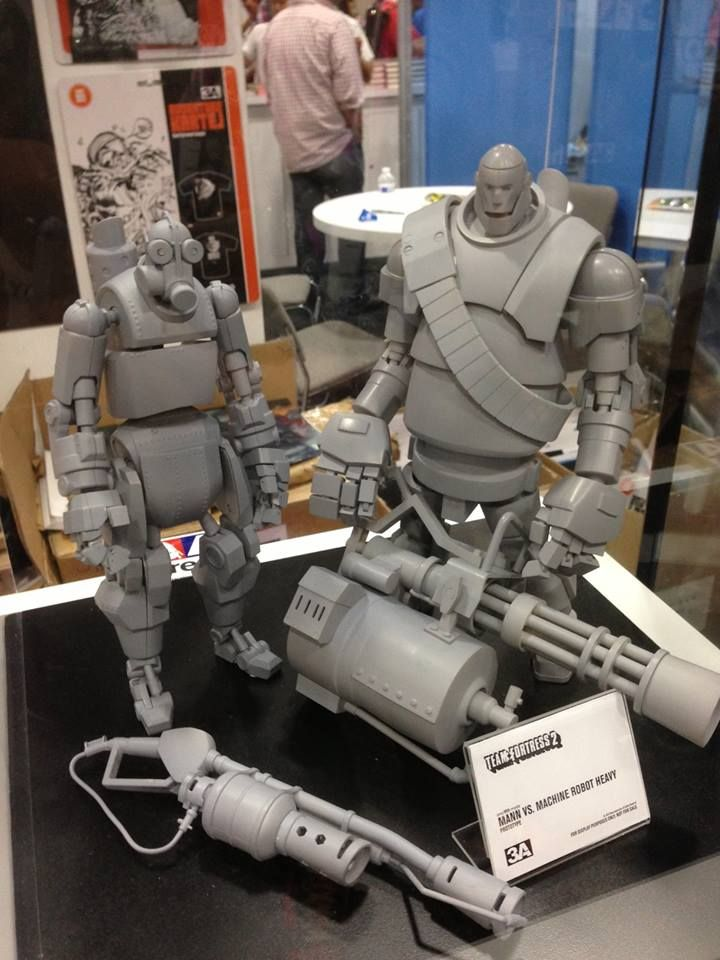 robot heavy and pyro from team fortress 2   Maquettes and